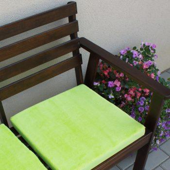 Dekorace-sedak 45x45 s fleecem-zelena II