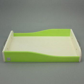 Dekorace-podnos vlna-zelena