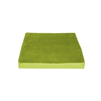 Dekorace-podsedak_zelena s fleece