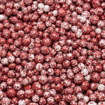 Dekoracni perly_cervena