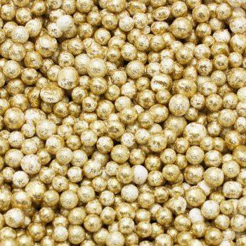 Dekoracni perly_zlata