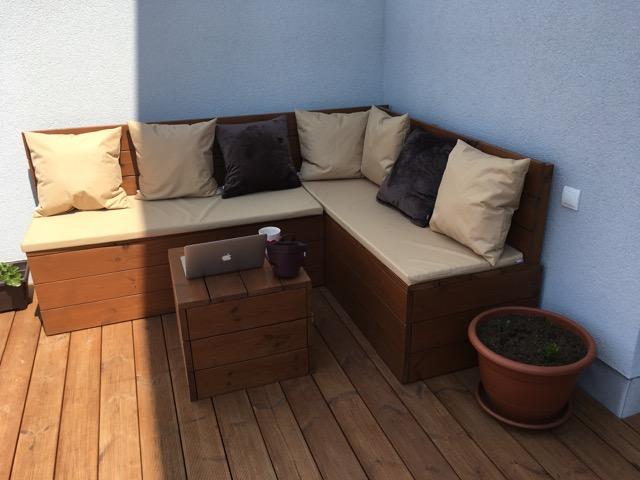 Sezení na terase – šití na míru
