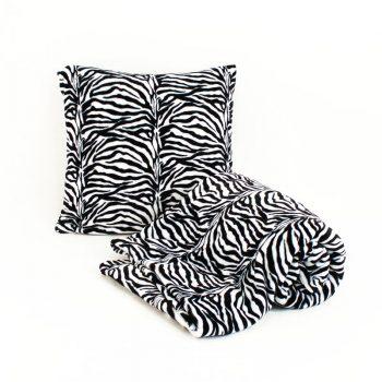Sada_fleecova deka a polstar_zebra