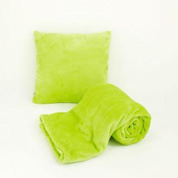 Sada_fleecova deka a polstar_zelena