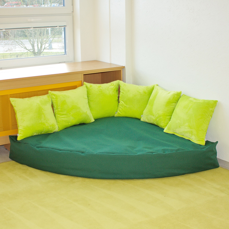 Sedacka pohodlicko s polstari_zelena